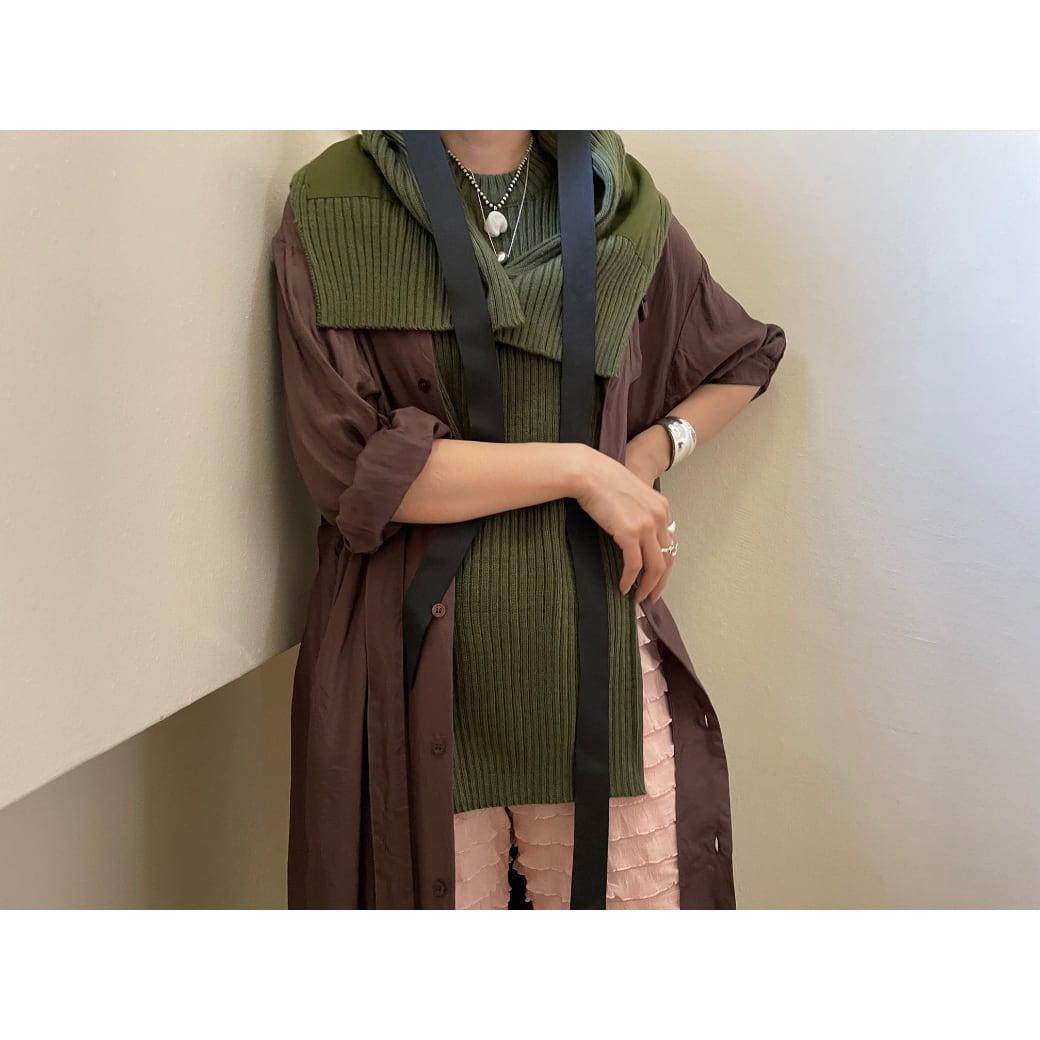 【RehersalL】commando sweater vest(olive drab) /【リハーズオール】コマンドセーターベスト(オリーブドラブ)