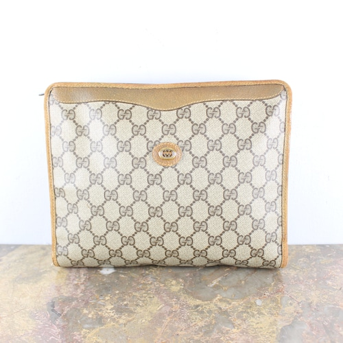 .OLD GUCCI GG PATTERNED CLUTCH BAG MADE IN ITALY/オールドグッチGG柄クラッチバッグ2000000053004