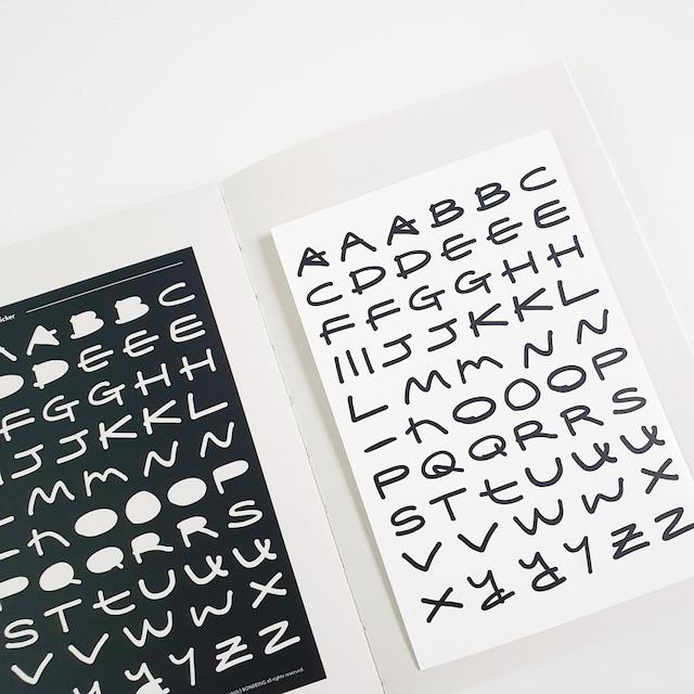 [BONBEING] HW アルファベット 型抜きステッカー