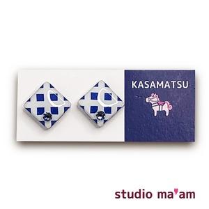 ■KASAMATSU-10 ピアス。しかく。〜イヤリング変更可〜
