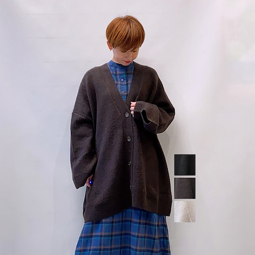 RIM.ARK(リムアーク) Big size square カーディガン 2021秋冬新作 [送料無料]