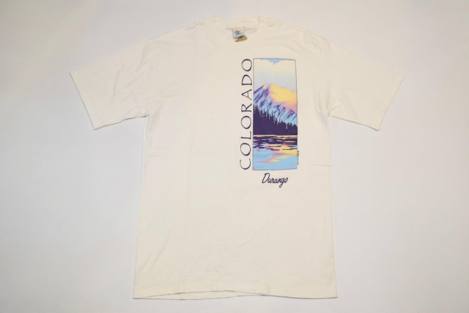 "USED 80s ""COLORADO Durango"" T-Shirt -Large 01143"