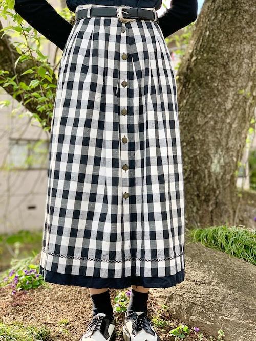 Vintage Buffalo Plaid Skirt Made In Euro