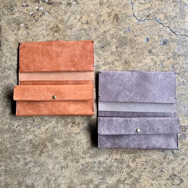 錫の手縫い財布 kuro