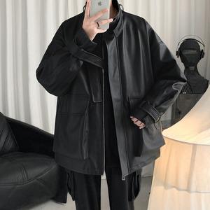 《即納》ブラックレザーツーリングジャケット