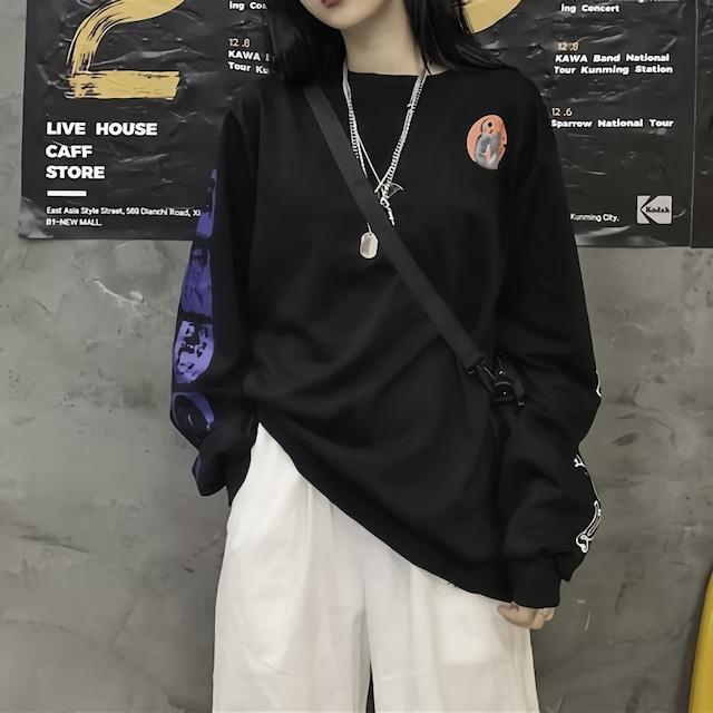 ロゴスリーブブラックシャツ / HWG206