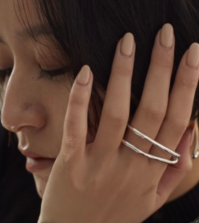 Nothing And Others【ナッシングアンドアザーズ】Double line ring .