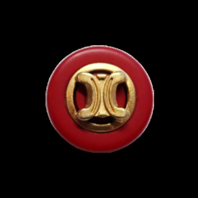 【VINTAGE  CELINE BUTTON】ゴールドフレーム ロゴボタン 1.8cm L-20007