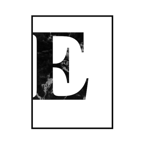 """""""E"""" 黒大理石 - Black marble - ALPHAシリーズ [SD-000506] A2サイズ ポスター単品"""
