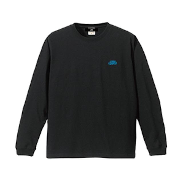 ロゴ刺繍 長袖Tシャツ / ブラック | SINE METU