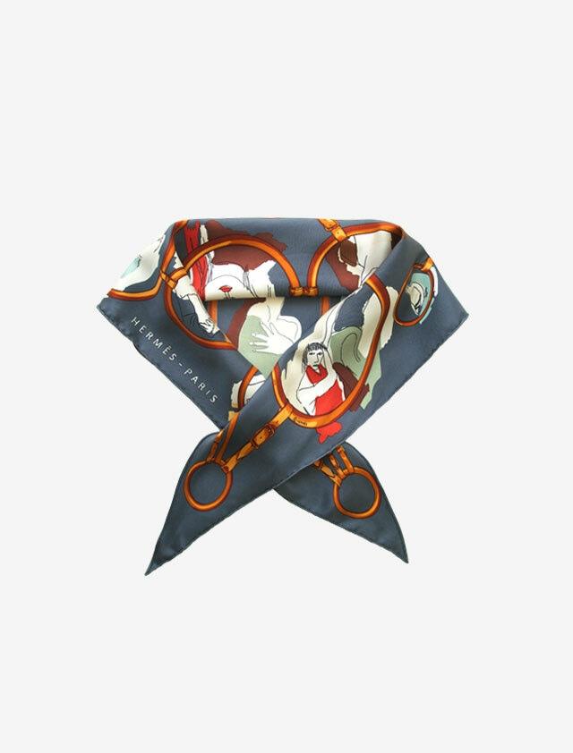 HERMES POINTU エルメス ポワントゥ 三角形 シルク スカーフ