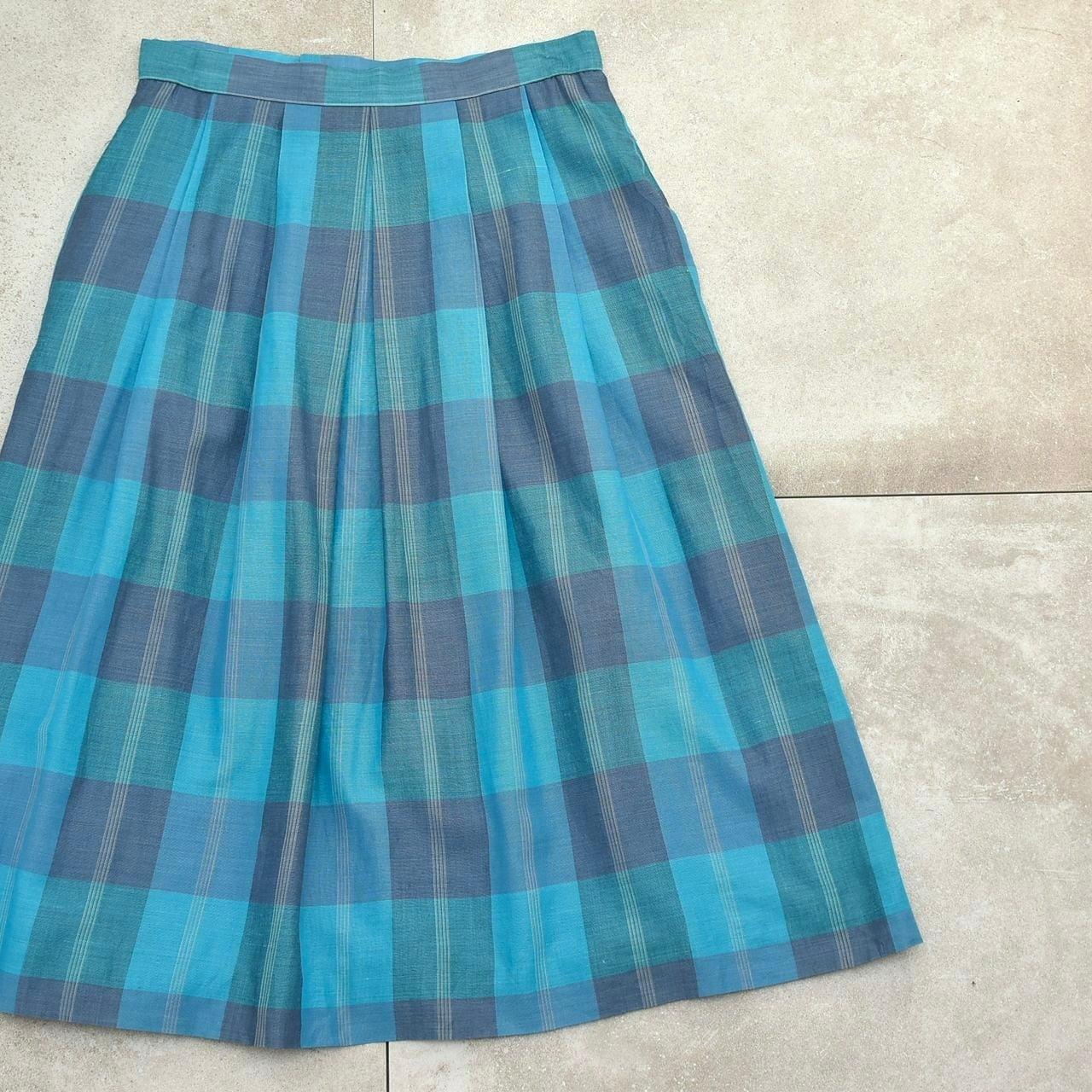 Vintage over check retro design skirt