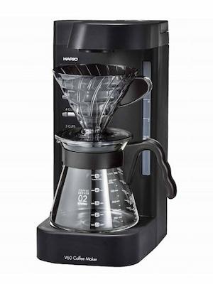 ハリオV60 珈琲王2 コーヒーメーカー EVCM2-5TB 2~5杯用 透明ブラック ペーパーフィルター40枚付属