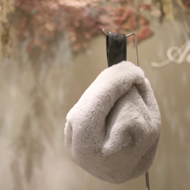 ATELIER BRUGGE/アトリエブルージュ レッキス風ファー 羊革ワンハンドルバッグ 32AF-1839
