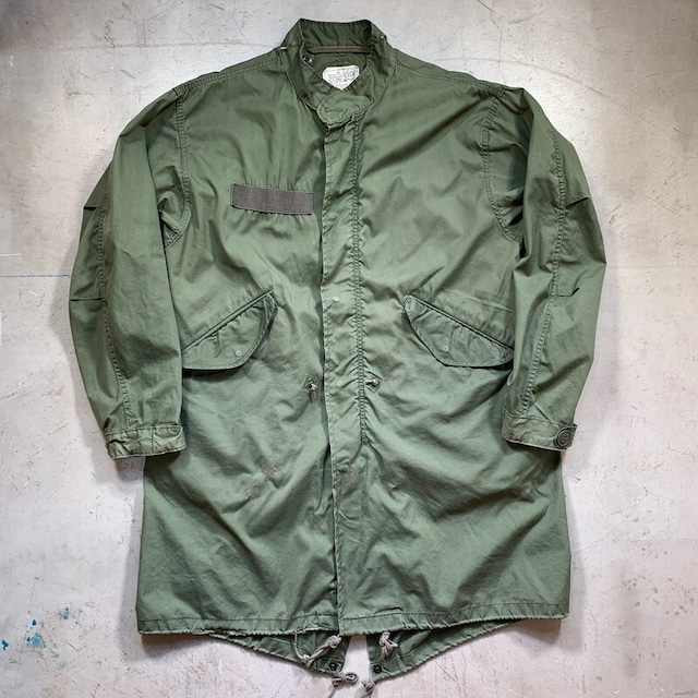 80's U.S.ARMY PARKA EXTREME COLD WEATHER M-65 FISHTAIL PARKA フィールドパーカー フィッシュテール シェルのみ CARBONHILL MFG.CO. DLA100-83-C-0441 ミリタリー 米軍 SMALL 希少 ヴィンテージ BA-1391 RM1760H