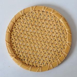 一木律子 丸皿(大)麻の葉編み