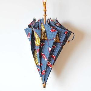 Bon Bon Store アフリカンバティック長傘(竹 007)