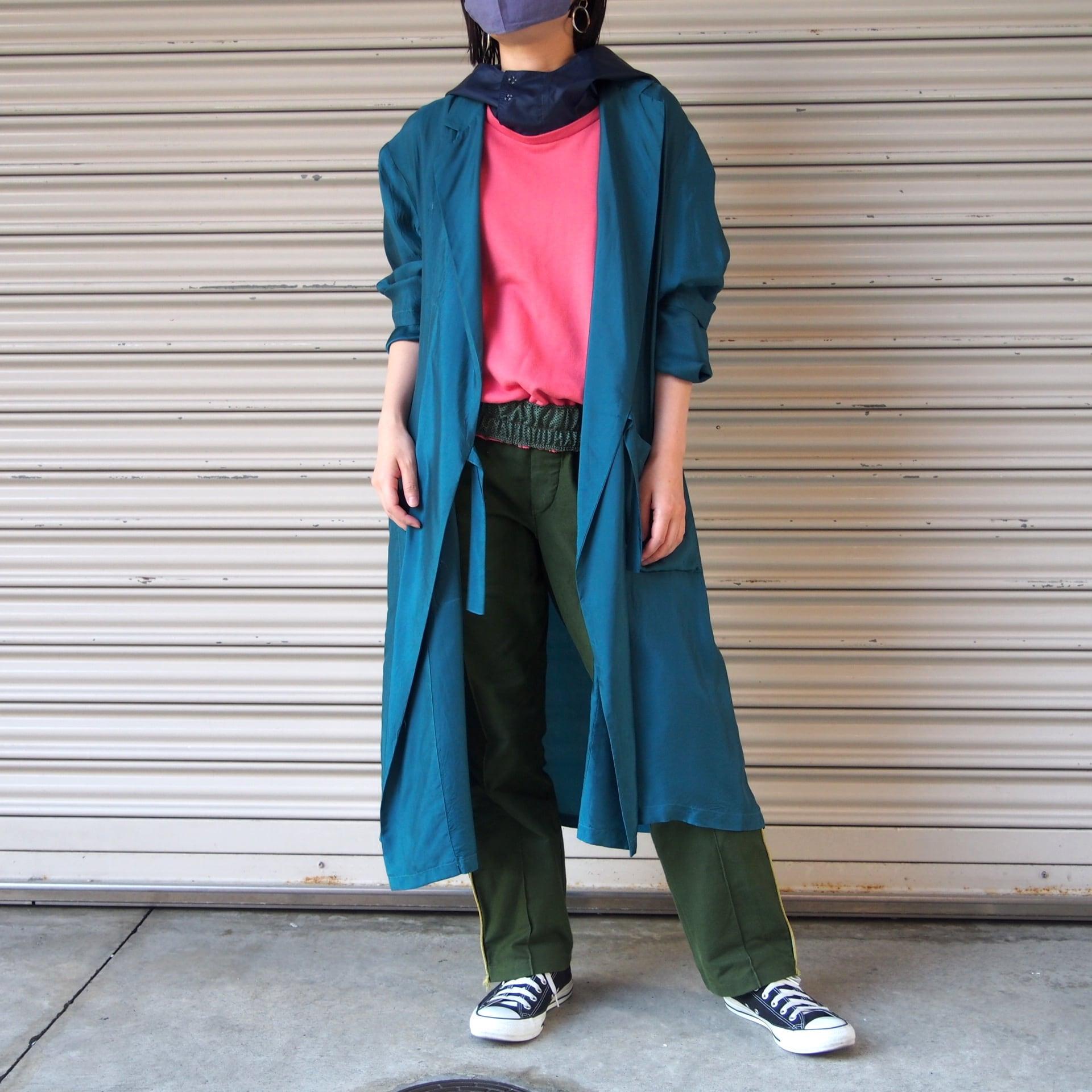 【hippiness】cupro coat(331/green)/【ヒッピネス】キュプラ コート(グリーン)