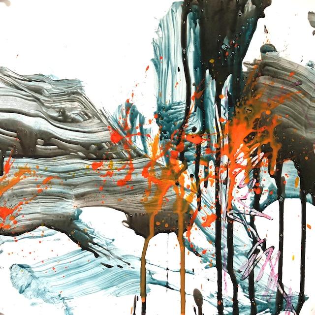 絵画 絵 ピクチャー 縁起画 モダン シェアハウス アートパネル アート art 14cm×14cm 一人暮らし 送料無料 インテリア 雑貨 壁掛け 置物 おしゃれ 抽象画 現代アート ロココロ 画家 : tamajapan 作品 : t-34  /