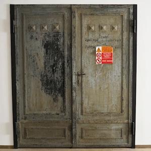 #11-02  Antique iron door