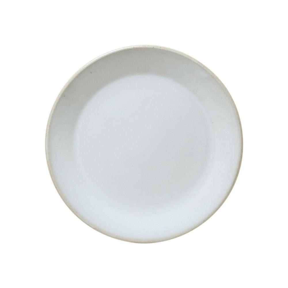益子焼 つかもと窯 「伝統釉」 フラット プレート 皿 S 約18cm 糠白釉 TH-6