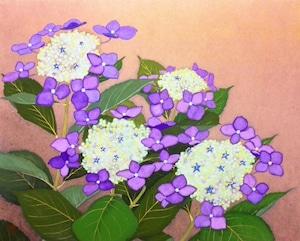 再入荷希望の方ご相談下さい。     本多翔「紫陽花」