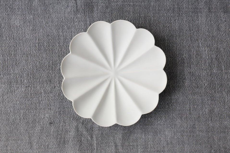 臼杵焼 輪花十二弁浅鉢