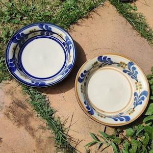 5寸皿平皿一枚焼き/巻き唐草