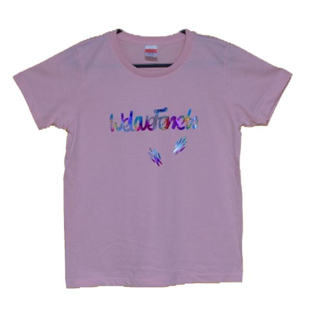 we Love Ferrets Tシャツ 5001-03 rainbow&足跡【カラー ベビーピンク】(サイズG-M)