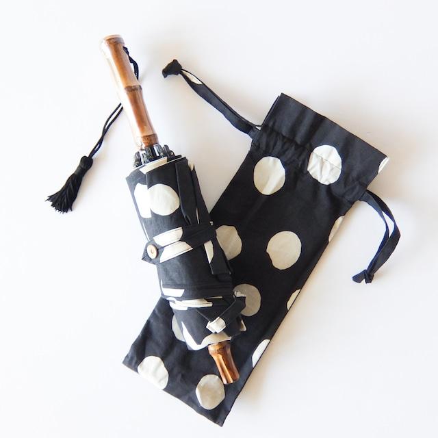 傳 tutaee - ツタエノヒガサ うさぎのたすき - 折り畳み日傘 - 黒玉