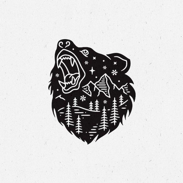 J skis - WILD LIFE アートワーク <クマ>