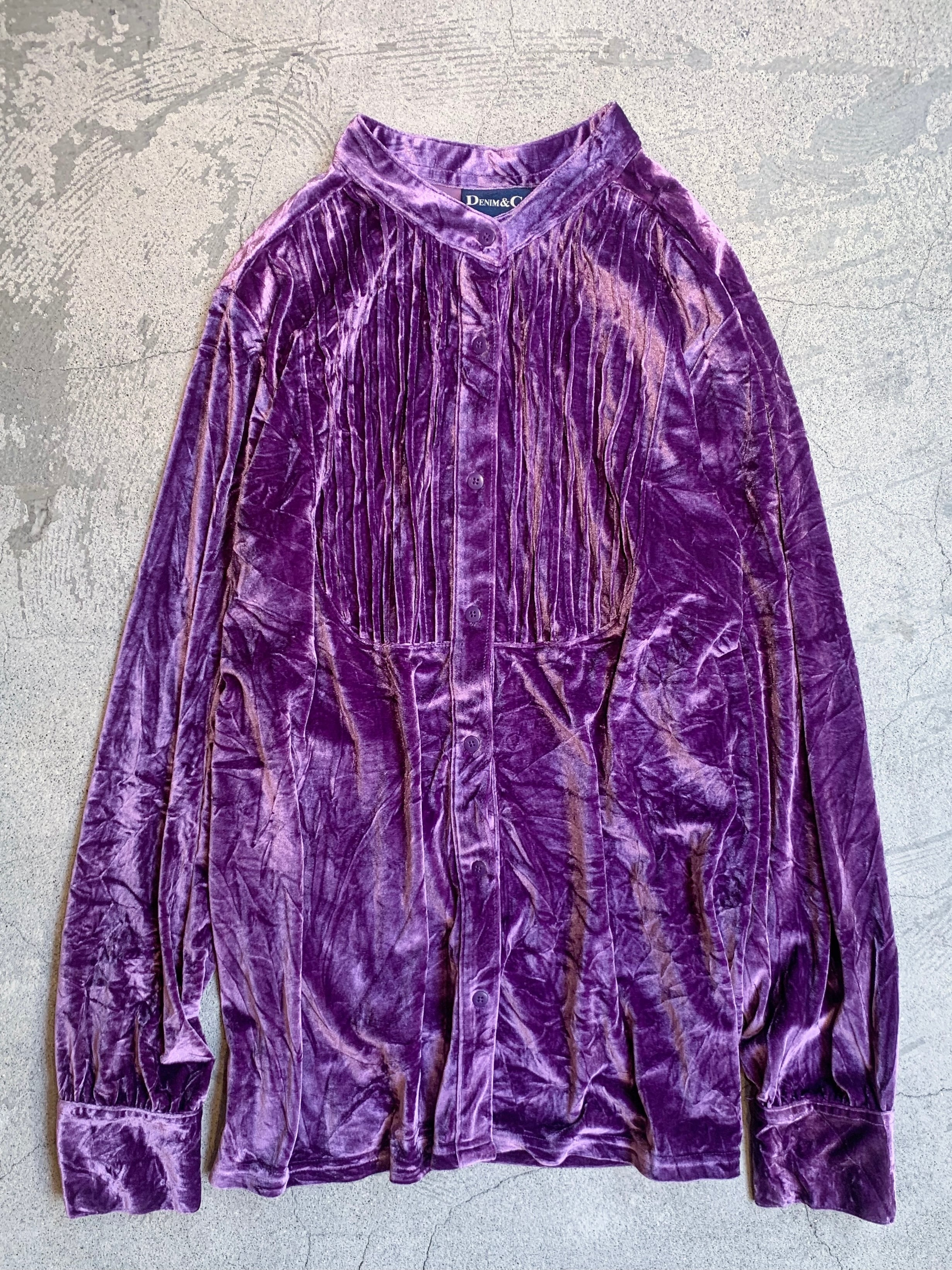 vintage velor tops /purple