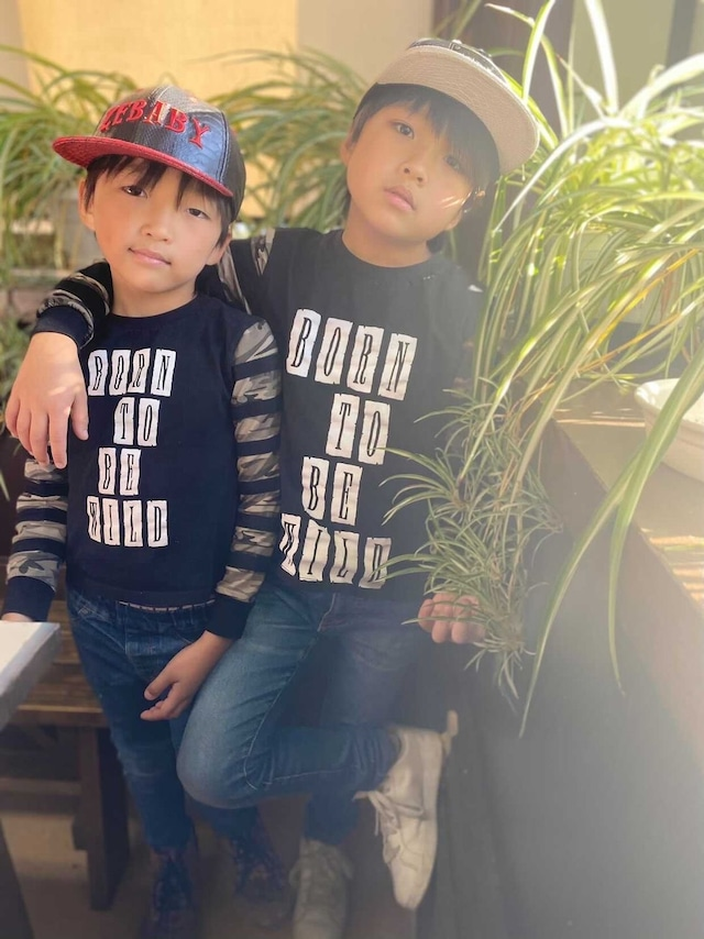 ZEBABY BORN TO BE WILD CAMOUFLAGE STRIPE T-SHIRT (税込)