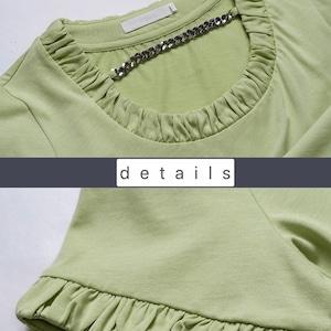 Special Select NH - 襟チェーン付きデザインカットソー LNH21215