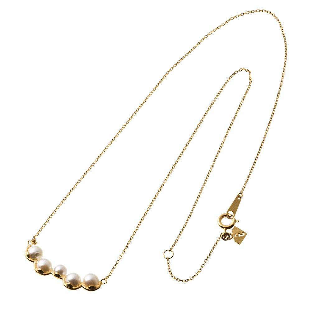 Random pearl bar necklace ランダムパールバーネックレス  ELP0007SG