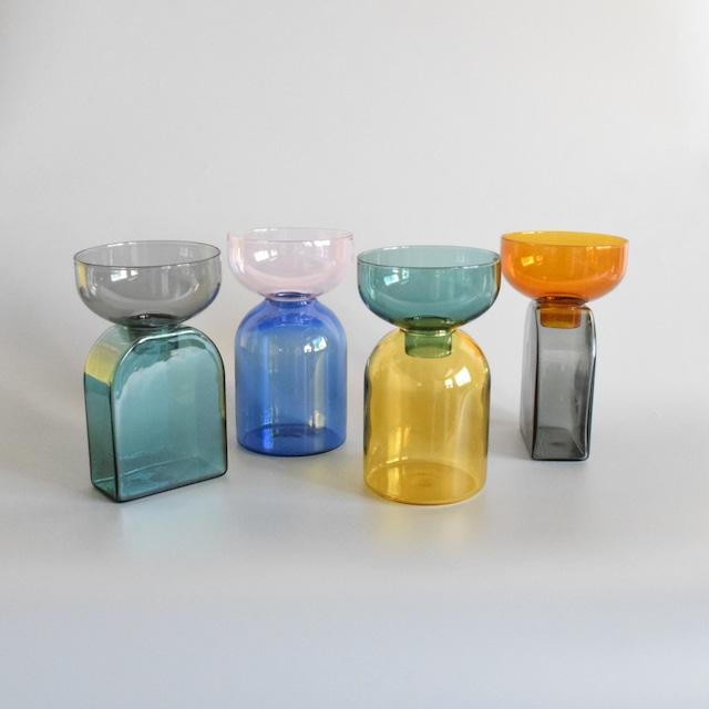 TWO TONE VASE ツートーンベース ガラス製 花瓶 一輪挿し