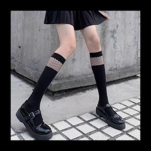 【お取り寄せ】GIRL 網 ハイソックス
