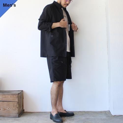 Mountain Smith リサイクルストレッチナイロン セットアップ BDシャツジャケット ショーツ Black