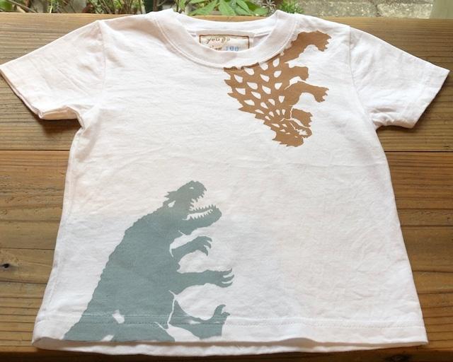 受注制作 kidsTシャツ「アンキロサウルス・アロサウルス・ステゴサウルス」 90~140対応