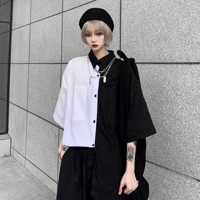 【トップス】超人気韓国系半袖シングルブレストPOLOネックシャツ29486606