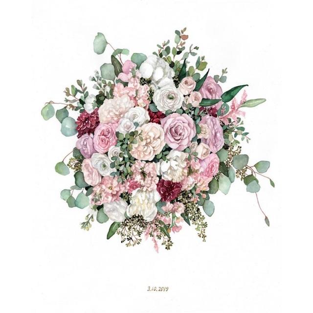 Custom Wedding Bouquet Painting【Mサイズ】