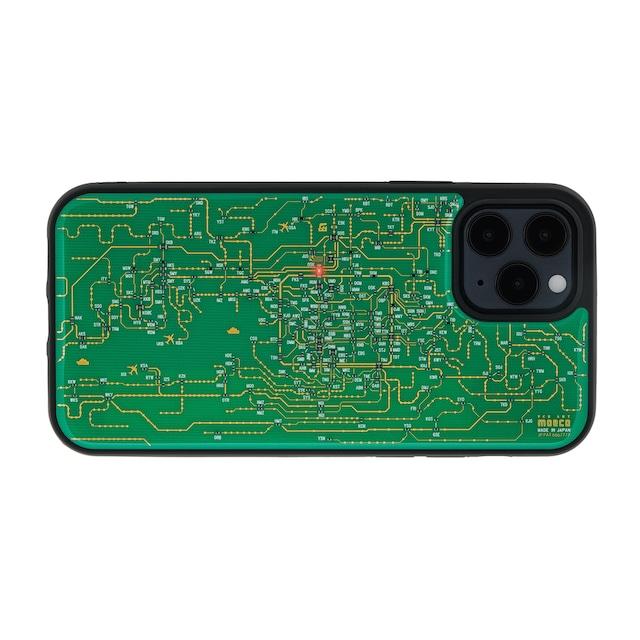 FLASH 関西回路線図 iPhone 12 / 12 Pro ケース  緑【東京回路線図A5クリアファイルをプレゼント】