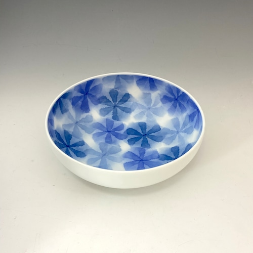 【中尾英純】和紙染花文鉢