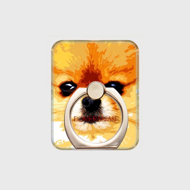 ポメラニアン おしゃれな犬スマホリング【IMPACT -color- 】