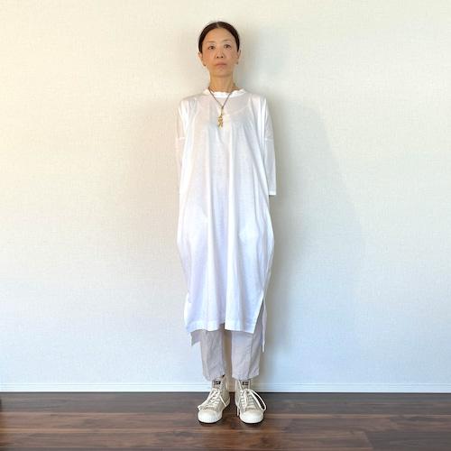 七分袖ジャージィワンピース(D04)