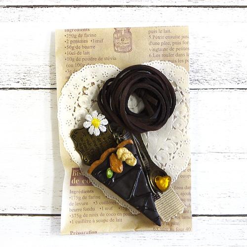 【卯の月屋】チョコレートタルトのネックレス/ネックレス