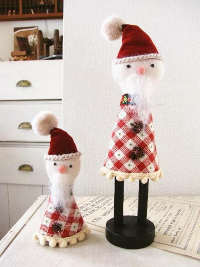 サンタクロースのマスコット*レトロ・ナチュラル クリスマス雑貨/セレクト雑貨