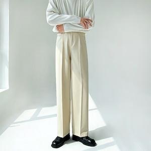 Advanced drape straight pants   b-478