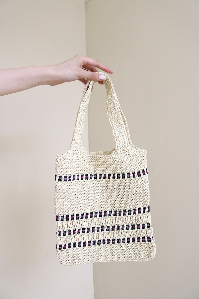 straw ribbon design bag / 6SSGD19-41