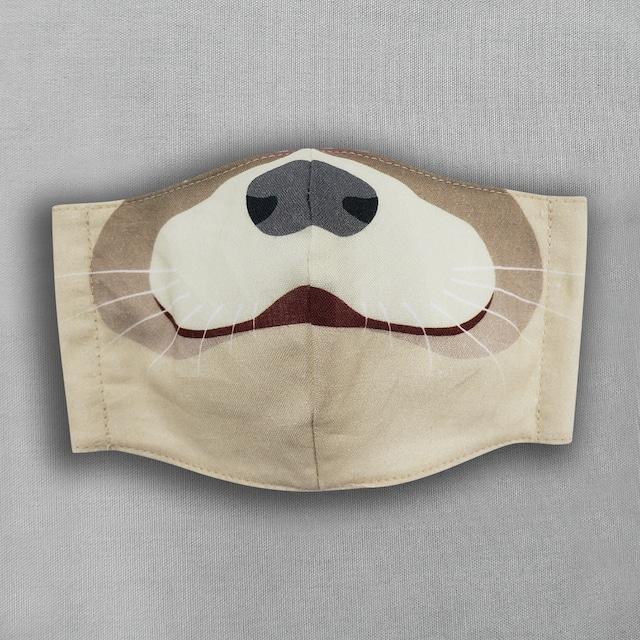 【抗菌・抗ウィルス加工マスク/受注販売】コツメカワウソ|動物マスク